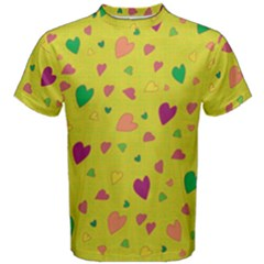 Colorful Hearts Men s Cotton Tee