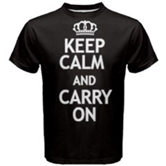 Black Keep Calm And Carry On Tee by FunnySaying