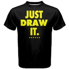 Just Draw It    Men s Cotton Tee