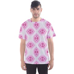 Peony Photo Repeat Floral Flower Rose Pink Men s Sport Mesh Tee