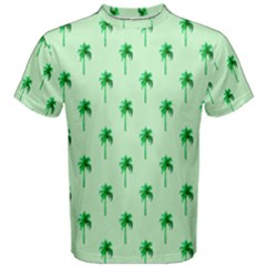 Palm Tree Coconoute Green Sea Men s Cotton Tee