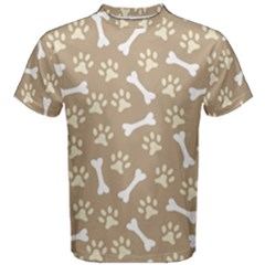 Background Bones Small Footprints Brown Men s Cotton Tee