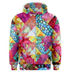 Colorful Hipster Classy Men s Zipper Hoodie by Brittlevirginclothing
