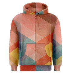 Colorful Warm Colored Quares Men s Zipper Hoodie by Brittlevirginclothing