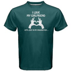 Green I Love My Girl Imagination  Men s Cotton Tee