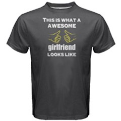 Grey Awesome Girlfriend Look Like  Men s Cotton Tee by FunnySaying