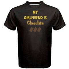 Black Chocolate Is My Girlfriend Men s Cotton Tee