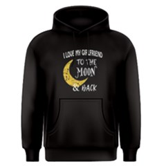 Black I Love My Girlfriend To The Moon And Back Men s Pullover Hoodie by FunnySaying
