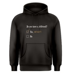 Black Girlfriend Question Men s Pullover Hoodie by FunnySaying