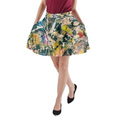 Art Graffiti Abstract Vintage A Line Pocket Skirt by Nexatart
