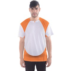 Orange White Egg Easter Men s Sport Mesh Tee