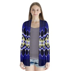 Fractal Fantasy Blue Beauty Cardigans by Nexatart