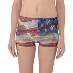 Grunge United State Of Art Flag Reversible Bikini Bottoms by Nexatart