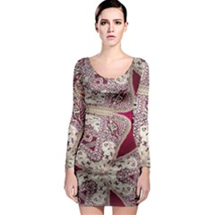 Morocco Motif Pattern Travel Long Sleeve Bodycon Dress by Nexatart