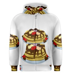 Pancakes   Shrove Tuesday Men s Zipper Hoodie by Valentinaart