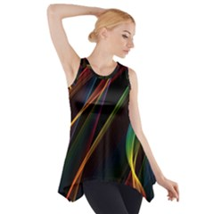 Rainbow Ribbons Side Drop Tank Tunic by Nexatart