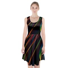 Rainbow Ribbons Racerback Midi Dress by Nexatart