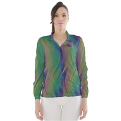 Texture Abstract Background Wind Breaker (women) by Nexatart