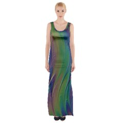 Texture Abstract Background Maxi Thigh Split Dress by Nexatart