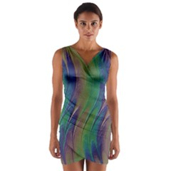 Texture Abstract Background Wrap Front Bodycon Dress by Nexatart