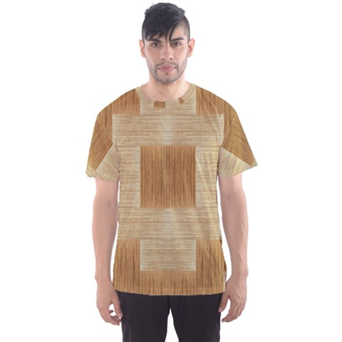 Texture Surface Beige Brown Tan Men s Sport Mesh Tee by Nexatart