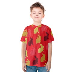 Hare Easter Pattern Animals Kids  Cotton Tee