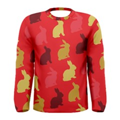 Hare Easter Pattern Animals Men s Long Sleeve Tee by Amaryn4rt