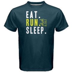 Eat Run Sleep   Men s Cotton Tee by FunnySaying