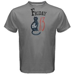 Grey Black Friday Cat  Men s Cotton Tee by FunnySaying