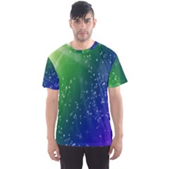 Shiny Sparkles Star Space Purple Blue Green Men s Sport Mesh Tee