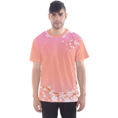 Flower Season Pink Purple Red Men s Sport Mesh Tee