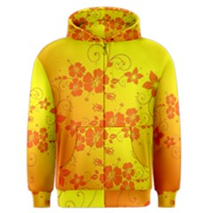 Flowers Floral Design Flora Yellow Men s Zipper Hoodie by Amaryn4rt