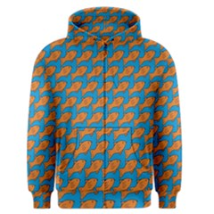 Fish Sea Beach Swim Orange Blue Men s Zipper Hoodie