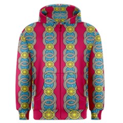 African Fabric Iron Chains Red Yellow Blue Grey Men s Zipper Hoodie