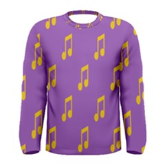 Eighth Note Music Tone Yellow Purple Men s Long Sleeve Tee by Alisyart