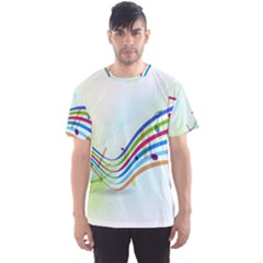 Color Musical Note Waves Men s Sport Mesh Tee