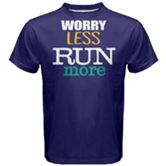 Worry Less Run More   Men s Cotton Tee