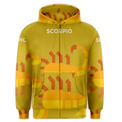 Animals Scorpio Zodiac Orange Yellow Men s Zipper Hoodie