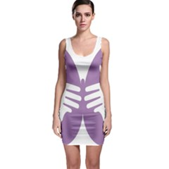 Colorful Butterfly Hand Purple Animals Sleeveless Bodycon Dress