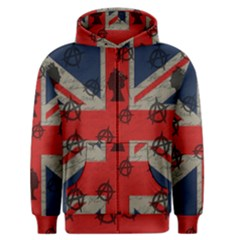 United Kingdom  Men s Zipper Hoodie by Valentinaart