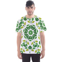 Leaf Green Frame Star Men s Sport Mesh Tee