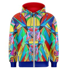Arcturian Metamorphosis Grid - Men s Zipper Hoodie by tealswan