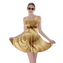 Gold Background Texture Pattern Skater Dress by Simbadda