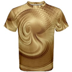 Gold Background Texture Pattern Men s Cotton Tee by Simbadda