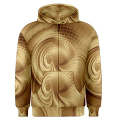 Gold Background Texture Pattern Men s Zipper Hoodie by Simbadda