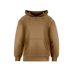 Pattern Honeycomb Pattern Brown Kids  Pullover Hoodie by Simbadda
