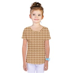 Pattern Gingerbread Brown Kids  One Piece Tee by Simbadda