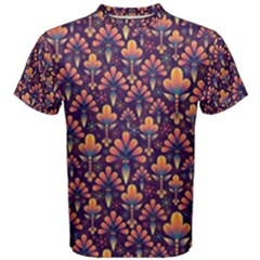 Abstract Background Floral Pattern Men s Cotton Tee by Simbadda