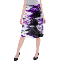 Canvas Acrylic Digital Design Midi Beach Skirt by Simbadda