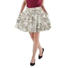 Wall Rock Pattern Structure Dirty A Line Pocket Skirt by Simbadda